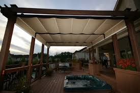outdoor decks for jacuzzis with awning awning outdoor decoration