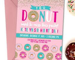 donut birthday invitation donut party birthday invitation