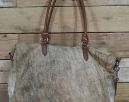 Cowhide Overnight Bag Cowhide Duffle Bag Etsy