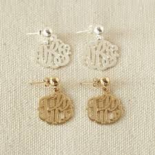 monogram earrings initial reaction monogram earrings pbteen