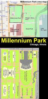 grant park chicago map now and then millennium park chicago