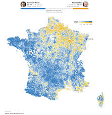 I 35 Map Results Of Second Round Of French Presidential Election With 95