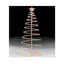 trim a home 6 u0027 multicolor lighted spiral christmas tree shop