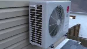 ductless mini split lg ductless mini split inverter heat pump youtube