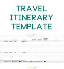 Free Travel Itinerary Template Excel 24 Docs Templates That Will Your Easier