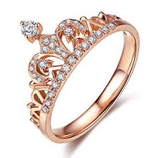 crown style rings images Umode clear exquisite princess crown tiara design tiny jpg