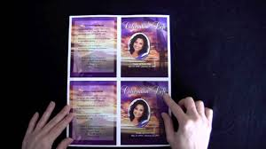 how to make funeral programs funeral memorial cards
