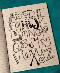 alphabet fonts doodles and bullet