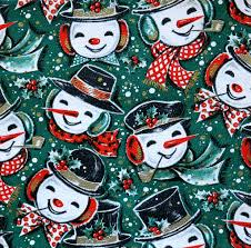 vintage wrapping paper vintage kaycrest christmas wrapping paper jolly snowmen flickr