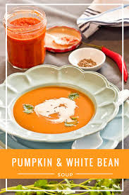 Butternut Squash And White Bean Soup Spicy Pumpkin And Bean Soup Recipe