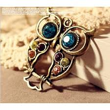 necklace owl images Crystal owl necklace jpg