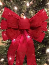 big christmas bows how to make burlap bows for christmas tree burlap bow tree