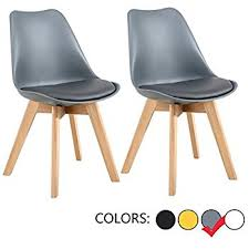 Dining Chair Eames Lssbought Set Of 2 Eames Style Soft Padded Seat