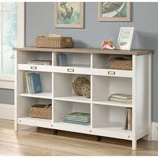 sauder 4 shelf bookcase sauder adept soft white storage furniture 417653 the home depot