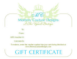 gift certificates luxury baby product baby gifts gift