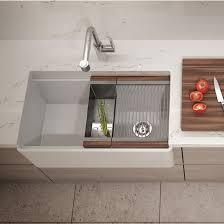 Julien Kitchen Sink Fira Collection Single Undermount Fireclay Kitchen Sink W Ledge