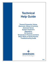 emerson refrigerant technical guide air conditioning pressure