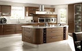 country design of the kitchen with black cabinets all wooden round