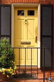 door colors for brick houses yellow door red brick house door