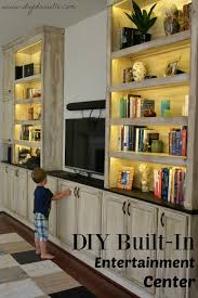 Entertainment Storage Cabinets Diy Built In Entertainment Center Final Reveal Entertainment