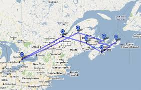 map canada east coast east coast canada map major tourist attractions maps