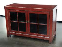 buffet cabinet with glass doors elegant medium red cabinet with glass doors buffets media cabinets