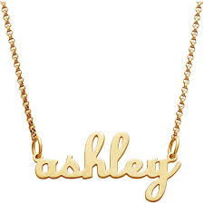 gold script name necklace personalized women s gold sterling silver lowercase script