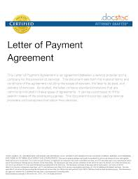 10 best images of example of a payment agreement employment