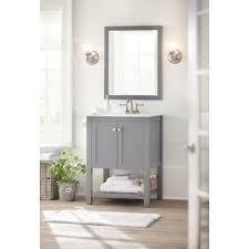 Home Depot Home Decorators Vanity by Home Decorators Collection Cranbury 24 In Vanity In Cool Gray