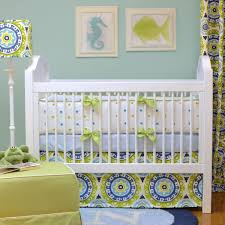 Crib Bedding Green Sol Crib Bedding Apple Green Baby Bedding Bold Bedding