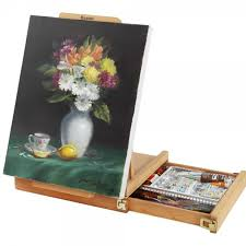 renoir table easel u0026 sketchbox easel w metal lined drawer