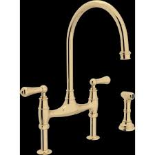 Bridge Kitchen Faucet Rohl U 4719l 2 Perrin And Rowe Bridge Kitchen Faucet With Side