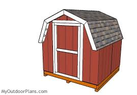 8x8 short barn shed plans myoutdoorplans free woodworking