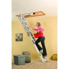 louisville ladder aa229gs elite aluminum attic ladder 350 pound