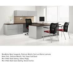 National Waveworks Reception Desk National Office Furniture Waveworks Metal Casegoods With Mix It