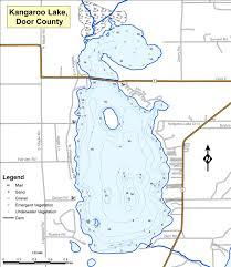 Wisconsin Lake Maps Kangaroo Lake In Door County Nature U0027s Finest