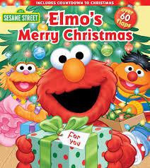 sesame street elmo u0027s merry christmas lift the flap sesame