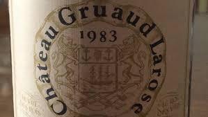 30 years of château gruaud cellar favorite 1983 château gruaud larose may 2017 vinous