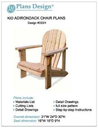 Diy Adirondack Chairs Child Adirondack Chair Woodworking Plans Full Sized Patterns