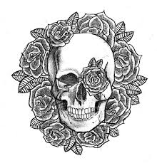 skull and roses design by patsurikku on deviantart