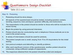 questionnaire design questionnaire form design ppt