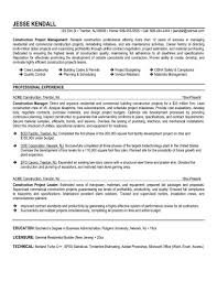 Best Project Manager Resume Sample by Construction Project Manager Resume Sample Free Resume Example