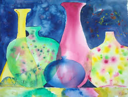 How To Paint A Vase How To Paint A Scene Of Colored Glass Vases In Watercolor 9 Steps