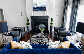 Gray Blue Living Room Modern Blue Gray Yellow Eclectic Living Room Design With Gray Blue