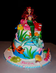mermaid birthday cake mermaid birthday cake decorating of party