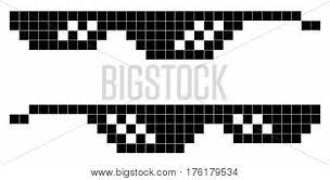 Glasses Meme - glasses pixel art style 8 bit vector photo bigstock