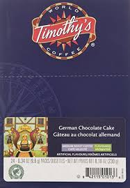 48 count timothy u0027s german chocolate cake flavored coffee k cup