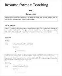 resume format for fresher teacher filetype doc elementary teacher resume sles exles sle letters