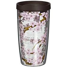 tervis tumbler cherry blossom wrap with travel lid