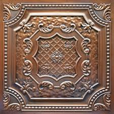 Faux Tin Ceiling Tiles Drop In by Elizabethan Shield Faux Tin Ceiling Tile 24